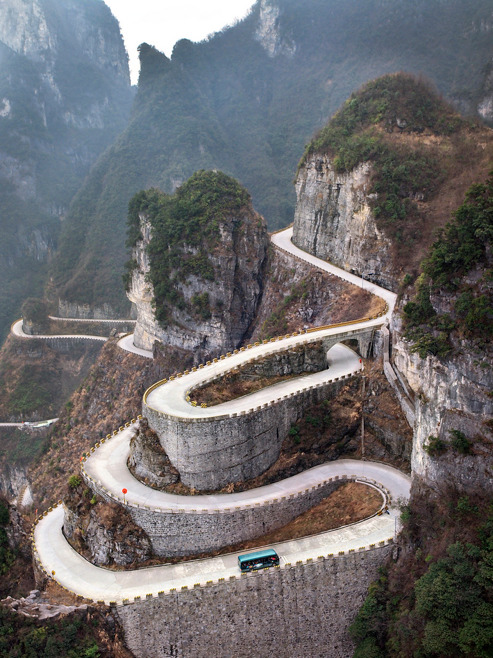 flentes:  Tianmen Mountain, China, Further to Fly