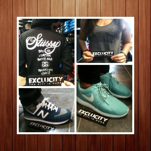 Exclucity Staff WDYWT on this B E A utiful Day! #WdywtExclucity #NewBalance #NB #Stüssy #Roshe #Nike #Vans  (Taken with Instagram)
