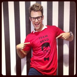 he's ready to play pictionary at broome street tonight! @mrbradgoreski #fno (Taken with Instagram at kate spade new york)