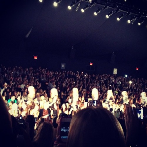 #bcbg #nyfw Eerily beautiful,  lots of black & white, they mentioned Helmut Newton's photography as an inspiration in the program. Favorites were all the Flowy pieces with simple harnesses in white as well as black  and leather capris (Taken with Instagram)