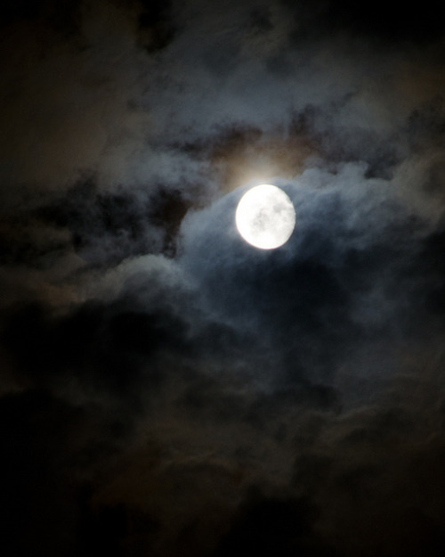 Midnight Moon & Smoky Clouds by Truebritgal on Flickr.
