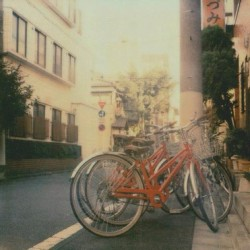 Missing #japan #tokyo #bike #travel #impossibleproject #film  (Taken with Instagram)