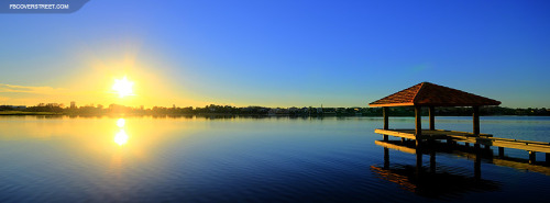 Australia Lake Sunrise Facebook Cover