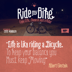 prettyclever:  Ride my Bike from Latinotype  If you fall off the best thing you can do is get straight back up and keep going.