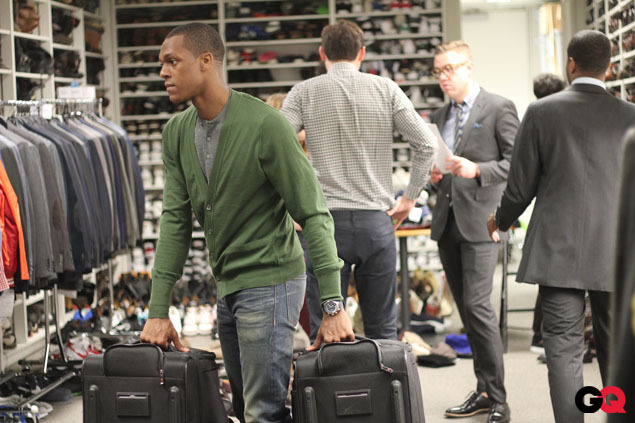 gq:  GQ has a new intern for New York Fashion Week! His name? Rajon Rondo.