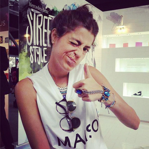 Leandra Medine of Man Repeller wearing Dannijo jewels Photographed by Julia Rubin
