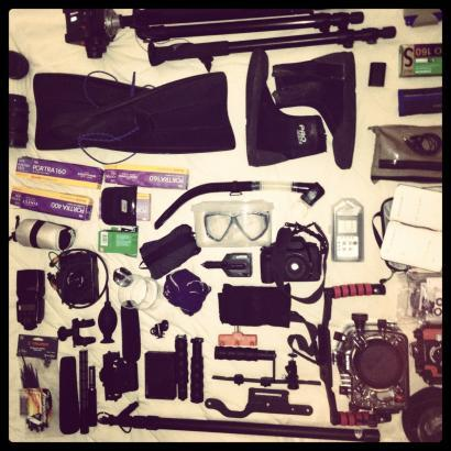 This is what photojournalist Dominic Bracco packed for his expedition reporting on the emptying of the world's aquarium in the Sea of Cortez.