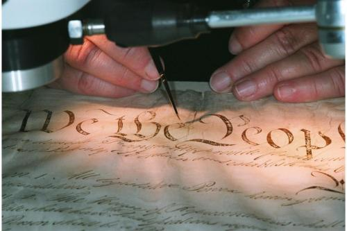 The 225th Constitution Day is coming up on September 17. Read NARA's latest blog post featuring interviews with Catherine Nicholson and Mary Lynn Ritzenthaler, two conservators who completed the most recent encasement of the Constitution. http://blogs.archives.gov/prologue/?p=10228