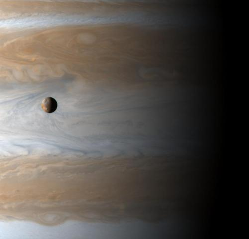 Io over Jupiterhttp://space-pics.tumblr.com/
