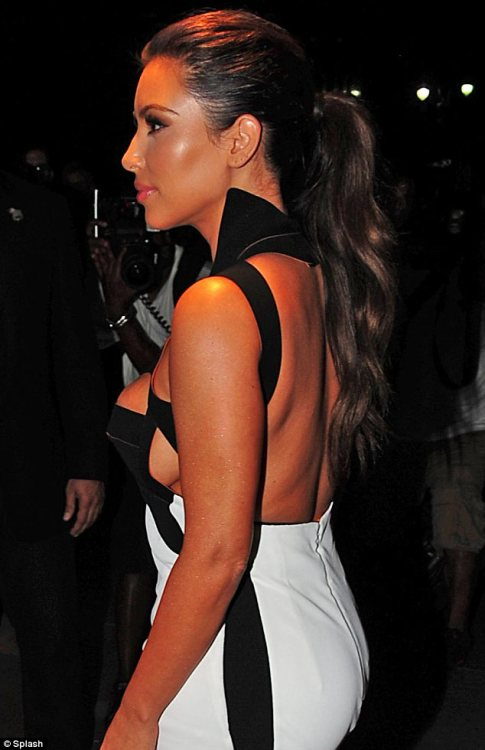 Kim Kardashian at a magazine launch party in New York last night…