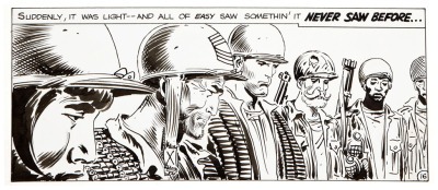 Current desktop wallpaper, a panel from Our Army at War #193 by Joe Kubert.