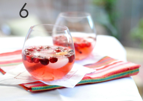 Cranberry Spice White Wine Sangria