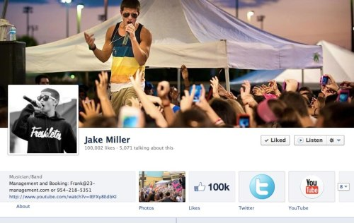 Holy balls. 100,000 likes. I love every one of you! Thank so much for the continued support! New music/videos comin soon!