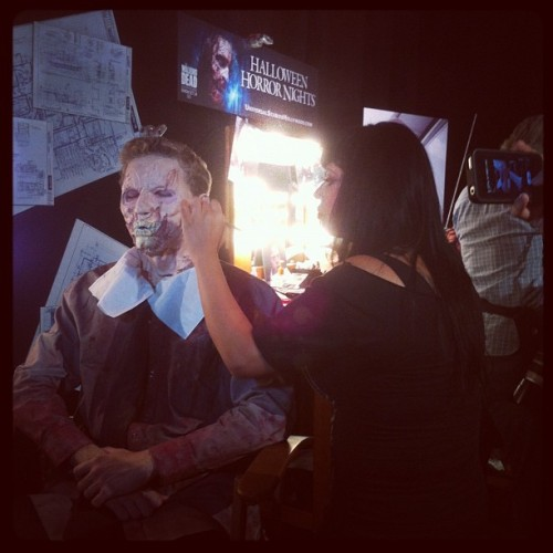 Makeup demos galore! #halloweenhorrornights #universal #pressday (Taken with Instagram)