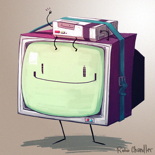 roboch:  A take on BMO (maybe his parents?!?!?!?) for the Ten Paces and Draw Character Redesign: Adventure Time! Hoorah!