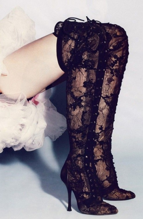 talullahtu:  Lace Thigh High Boots  Is it bad that I want these so much?