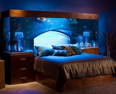 thedailywhat:  Aquarium Bed of the Day: WANT. Only $11,500, before you fill the damn thing with fish. [incrediblethings]
