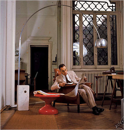 "The Arco Floor Lamp ""Designed in 1962 by Achille Castiglioni and his brother Pier Giacomo, the Arco is essentially a floor lamp that works as an overhead light without the need for wiring. But that is to ignore the simple elegance and style that have made it, like many of the brothers' 150 products, a design classic that is still selling strongly today.  Born in 1918, Achille and his brothers, Pier Giacomo and Livio, were all trained as architects. Achille's philosophy was that as a designer you should be a problem-solver, dealing with issues that the consumer might not even realise are there. A spokesman for the Design Museum said: ""He maintained that in order to design a new product, or improve an existing one, you should first decide if it was necessary before looking at what technology and materials were available for doing do. ""He described this process as 'start from scratch, stick to common sense, know your goals and means'."" In an interview with the Design Museum, Paola Antonelli, design curator at the Museum of Modern Art, New York, and an architecture student in Milan in the 1980s, said that Achille was one of the most popular tutors. ""For his lectures he would arrive with a large black bag, from which he would extract and line up on the table that day's chosen pieces from his collection of found objects – toys made from beer cans, odd eyeglasses… wooden stools. These were the most effective tools of design instruction,"" she said. Just as the Arco worked as an overhead lamp throwing light some eight feet away from its base, so his famous Sella stool – a bicycle seat on a round base – was, he said, for ""when I use the phone. I like to move around but I would also like to sit, but not completely."" His products were humorous and practical. The hole in the base of the Arco is not a design feature, it's for sliding a broom handle through so that two people can carry it.   During his prolific career, he worked with Flos lighting, Zanotta furniture and Alessi, taking care always to infuse his work with wit. Before his death in 2002, he lamented the ""professional disease of taking everything too seriously"" and said that one of his secrets was to joke all the time."""
