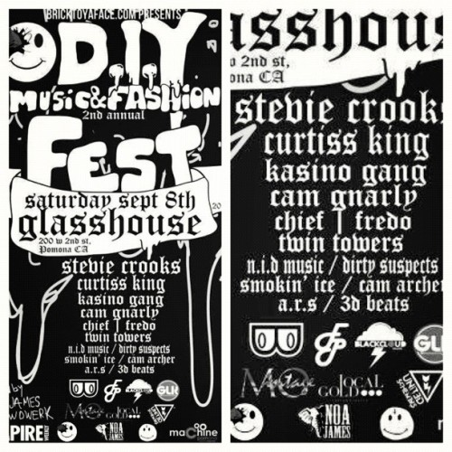 This Saturday! Im rockin the #DIYFest2012 at The Glasshouse in Pomona. Tickets are $10 thru me. $15 at the door! #LocalGold  (Taken with Instagram at The Glass House)