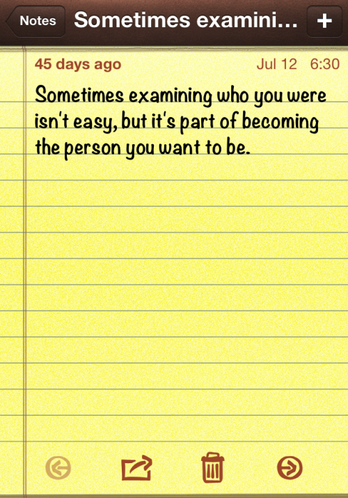 Sometimes examining who you are isn't easy.