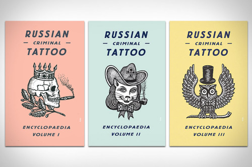 I have found my next book. It's called 'Russian Criminal Tattoo Encyclopaedia'. It's written by former prisoner and prison attendant Danzig Baldaev and it examines the underground language of tattooing used by Russian criminals.