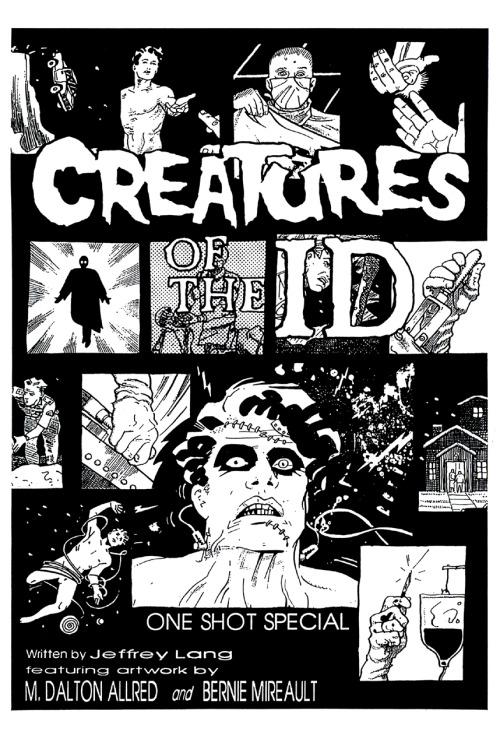 Promotional ad for Creatures of the Id by Jeffrey Lang, Michael Allred, and Bernie Mireault, 1990.