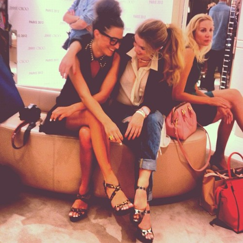 Me and @AudreyLeighton at Jimmy Choo for #FNO Paris! (Taken with Instagram)