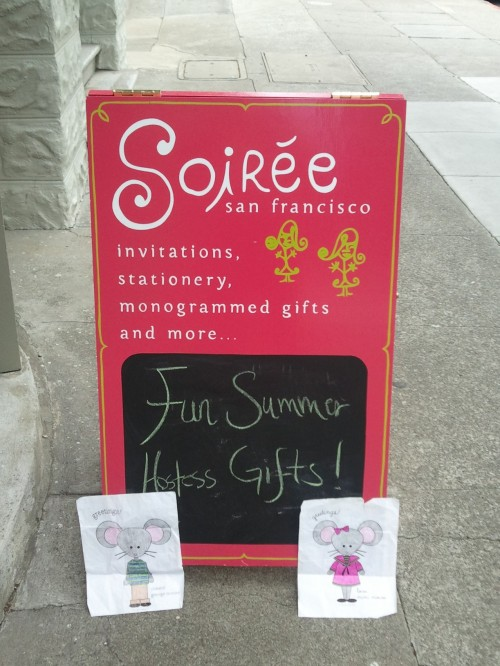 Mimi and George had a great time at Soiree San Francisco! They are a valued Boatman Geller Retailer!