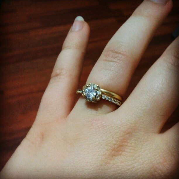 This is not an engagement ring picture, this is a symbol of my love for God (Taken with Instagram)