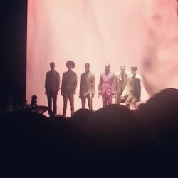 Ozwald Boateng gents all lined up #nyfw (Taken with Instagram at MBFW @ Lincoln Center)