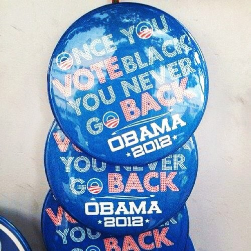 Someone please tell me these are not real BarackObama campaign buttons? America is in trouble. #RomneyRyan2012 @reppaulryan @mittromney #tcot #dnc2012 (Taken with Instagram)