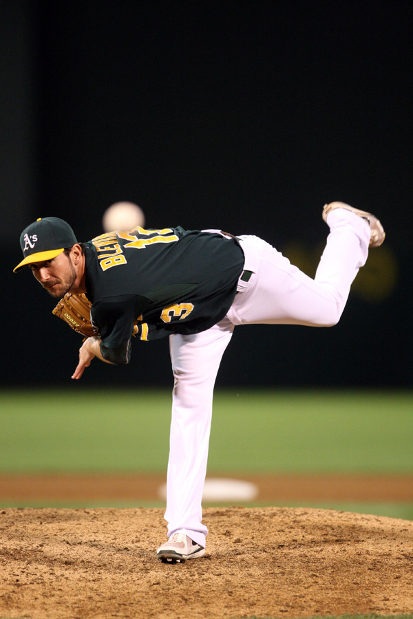 oaklandathletics:  Happy Birthday Jerry Blevins! (Michael Zagaris/Oakland Athletics)