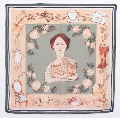 holymackerel:  Heirloom Silk Scarf; a product of collaboration between illustrator Kelsey Garrity-Riley and Fancy French Cologne.