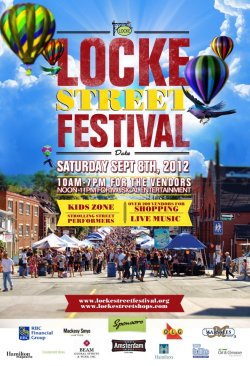 Locke Street Festival is happening on Saturday! I'll be set up at the other end of the street this year on the bridge area between Hunter and Canada Street. Come say hi! It's going to be great! Callie the pup's first outdoor festival! :D