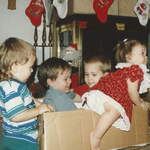 If you never played in boxes then you didn't enjoy your childhood😄 #tbt #nofilter (Taken with Instagram)