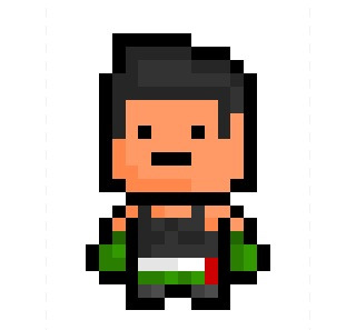 "Little Mac, the legendary boxing champion from classic NES game ""Punch Out !"", now given a good ol' 14 x 21 Pixelblock tribute.  Oh the nostalgia … or should I say, NEStalgia ! Bwaha !"