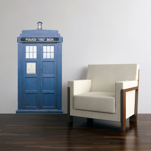 "The TARDIS (Time and Relative Dimensions in Space) is a craft which has carried the doctor to so many adventures over the past 40 something years. Perhaps it's time he landed in your home? This lovely wall decal is looking for a properly geeky environment in which to materialize.Size: 28"" wide x 44"" tall I can customize this design if you need a different sizeABOUT OUR DECALS:Every decal we sell is printed and cut individually for each client in-house.We use outdoor grade professional vinyl and print them with waterproof, fade resistant inks.The decals can be applied to: glass, walls, metal, plastic, and a variety of other smooth clean surfaces.Applying them is an easy process. When we ship your order we include an instruction sheet with photos showing each step. If you have any questions or problems with application you're welcome to call us and we'll help. You can grab it here!"