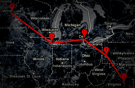 second half of cross country trek. near these places? want to meet-up? irl coffee and cyber-solidarity? here are the dates and locations we (needtodestroy and myself) will be. we generally arrive in at locations around 6pm. 6th Jamestown, ND - Another night of encampment. 7th Minneapolis, MN - Just a stop. 8th Chicago, IL - Specifically Wormhole Coffee in Wicker Park for my yearly cup. 9th Detroit, MI - Visiting tumblr friend, spinalfracture IRL for the first time. 10th Pittsburgh, PA - Staying with friends and messing with their MakerBot. 11th Centralia, PA - Ghost town and toxic site. A stop on the way. 11th Hirshhorn Museum, Washington, D.C. - Barbara Kruger and Ai Wei Wei exhibitions. 11th Richmond, VA - New home. Centralia, PA is a ghost town with a population of under 10 people as a result of a mine fire burning under the city since 1962. it is the inspiration for the fictional town of Silent Hill. this will be a photography/urban exploration trip. if you are near and want to join us send me a tweet/fan mail/ask