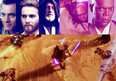 30 Days of Star WarsDay 4: Favorite Jedi Tie. Obi-Wan Kenobi and Mace Windu.