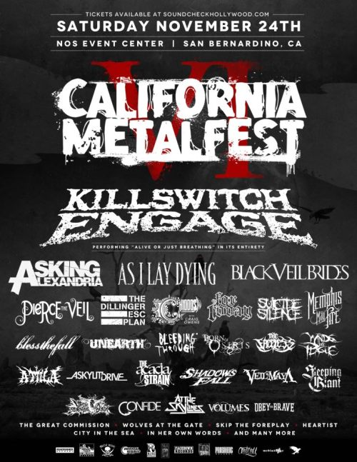 California Metalfest VI announced for November 24th.