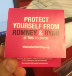 liberalsarecool:  Condoms handed out by Planned Parenthood at the DNC.