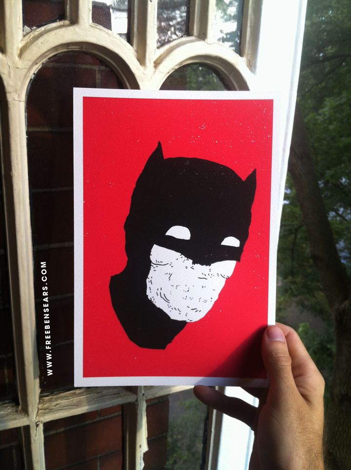 bensears:  I'm giving away this Bat print. Reblog the photo for a chance to win. Winner will be announced tomorrow at 3pm EST.