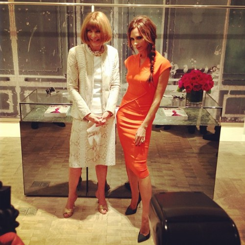 Strike a pose. Anna + Victoria = dynamic duo #fno #cn  (Taken with Instagram at Bergdorf Goodman)