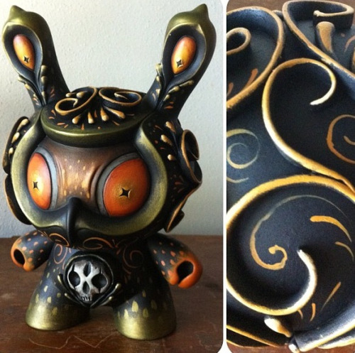 WIP Custom Atropa Dunny by Jason Limon A twist on his original production line. This piece will also get some wings when it is all finished..