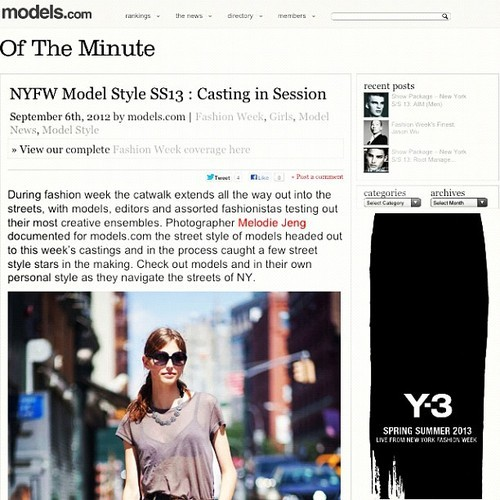 New Street Style / Casting story at models.com http://models.com/oftheminute/?p=45893 Above is Karlina Caune at New York Models More details to come soon