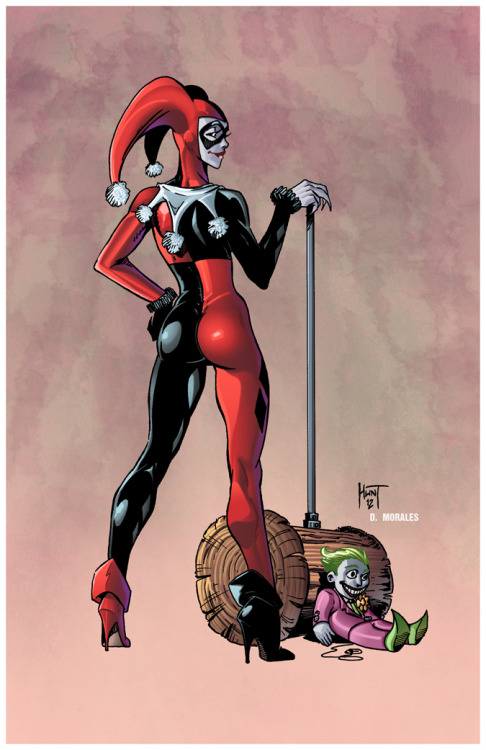La pin-up del giorno: Harley Quinn, di Ken Hunt. iamthespeedforceofawesomeness:  HARLEY QUINN by Ken Hunt colored by ~Dany-Morales