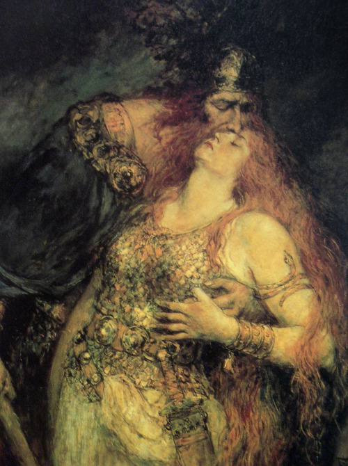 primordialwinds:  Odin and Frigg | F. Leeke | c. 1985  She looks rather unimpressed.