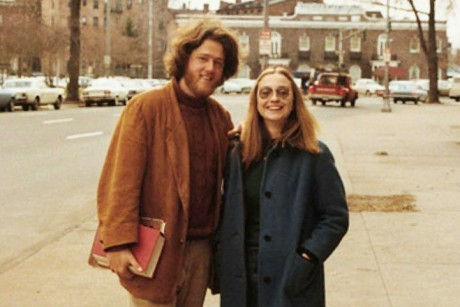 "abidafshoukat:  When Bill met Hillary. ""He was the first man I'd met,"" she told one interviewer, ""who wasn't afraid of me.""  HOLY CRAP BILL"