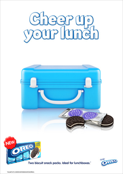 Cheer up your lunchbox, Oreo Ad