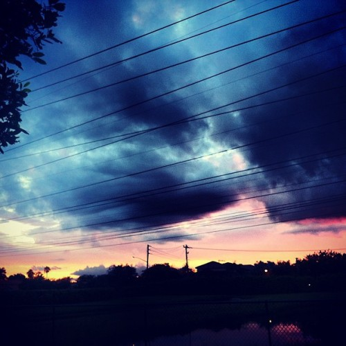#pink #blue #yellow #beautiful #skyline #clouds #perfect #creation  (Taken with Instagram)